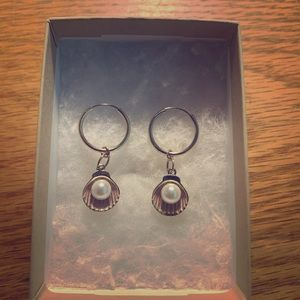 Urban outfitters pearl shell earrings